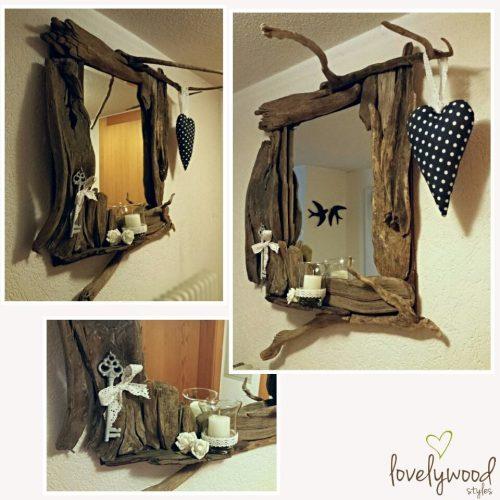 Spiegel Treibholz Dekoration Lovelywood