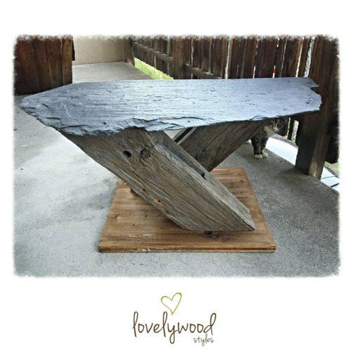 Tisch Altholz Schieferplatte Lovelywood